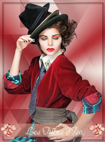 FAC0010 - Tube femme chapeau