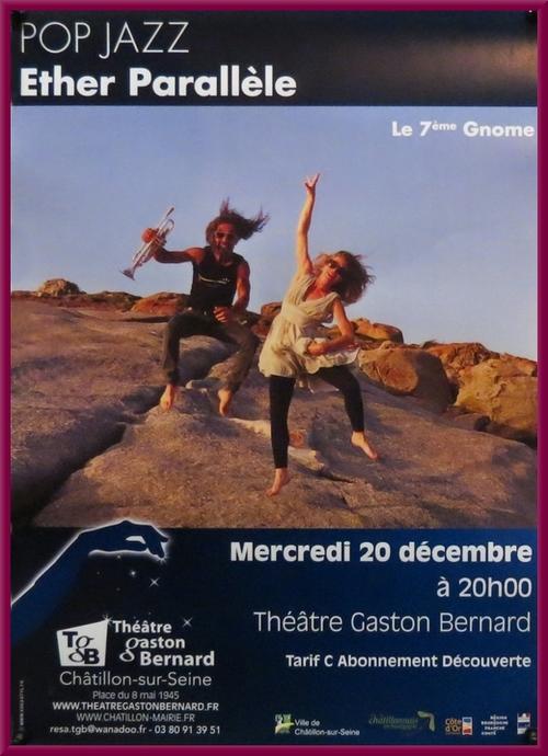 """""""Ether Parallèle"""", de la Compagnie du 7ème Gnome, au Théâtre Gaston Bernard de Châtillon dur Seine"""