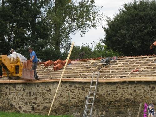 Rénovations toiture ... pose des liteaux
