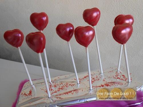Sucettes de la Saint-Valentin