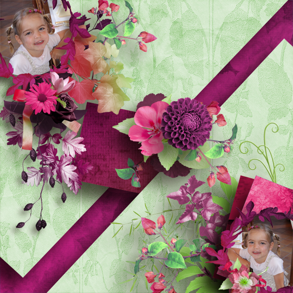 Kit  Deep Purple de Desclics ,template de Kastagnette