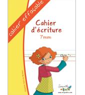 Cahier effaçable pour apprendre l'écriture cursive adapté aux dyspraxiques et utile à tous