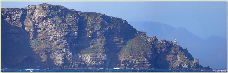 Panorama documenté sur Peninsula Cape avec le Cap de Bonne Espérance - Afrique du Sud