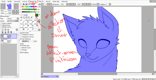 Comment dessiner un chat ? (Paint Tool SAI)