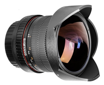 SAMYANG Fisheye 8 mm f3.5 UMC CS II  (Equi. 24x36 : 12.8 mm)