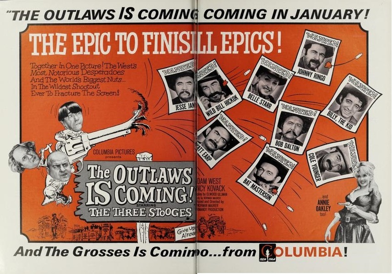 THE OUTLAWS IS COMING BOX OFFICE USA 1965