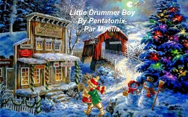 Little Drummer Boy   By Pentatonix   Par Mirella