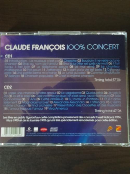 claude françois mes versions originales 2014 + claude françois 100% concerts 2012