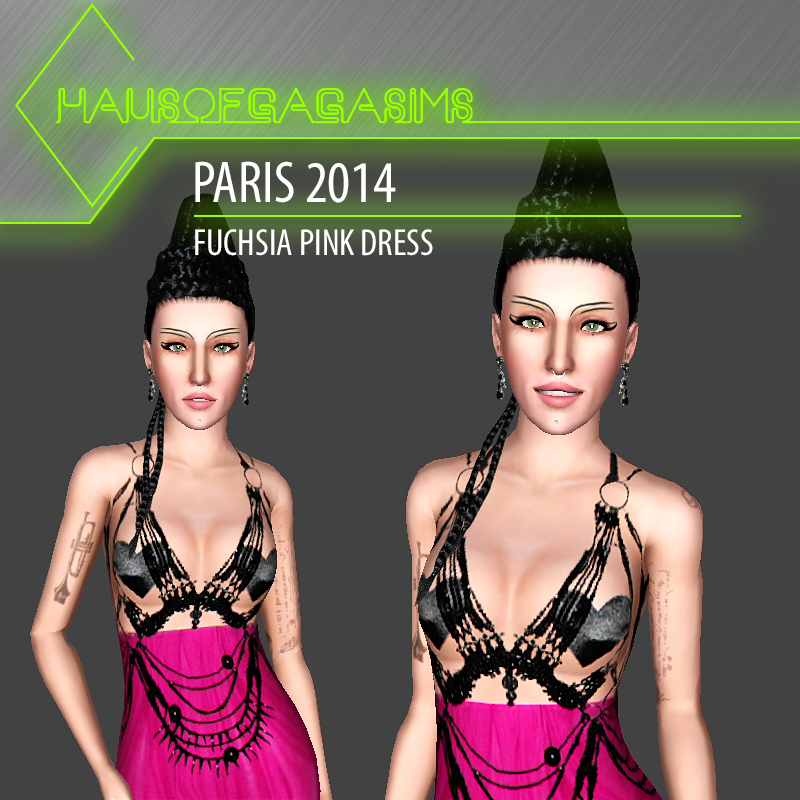 PARIS 2014 FUCHSIA PINK DRESS