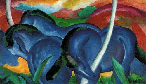 Franz Marc, Grands chevaux bleus,1911.