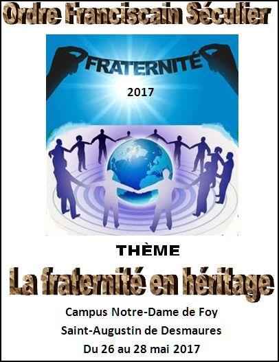 Une invitation à s'inscrire - Fraternité 2017