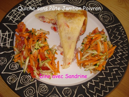 Une Quiche sans Pâte Jambon Poivron