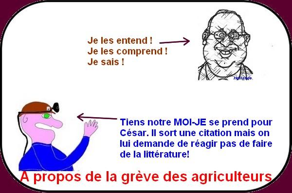 hollande et la grève des agriculteurs