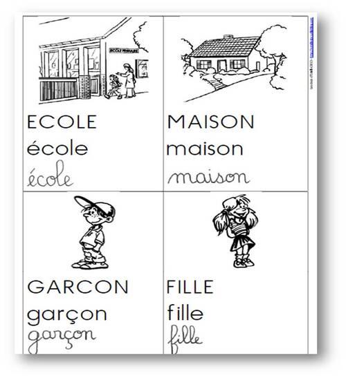 La rentrée - Cartes de vocabulaire