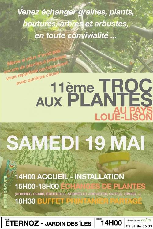 11ème Troc aux plantes au Pays Loue-Lison : Samedi 19 mai