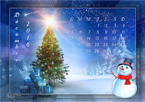 Mes calendriers de décembre