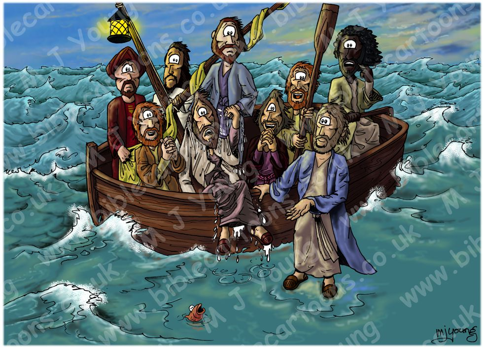 Matthew 14 - Jesus walks on water - Scene 06 - Worship
