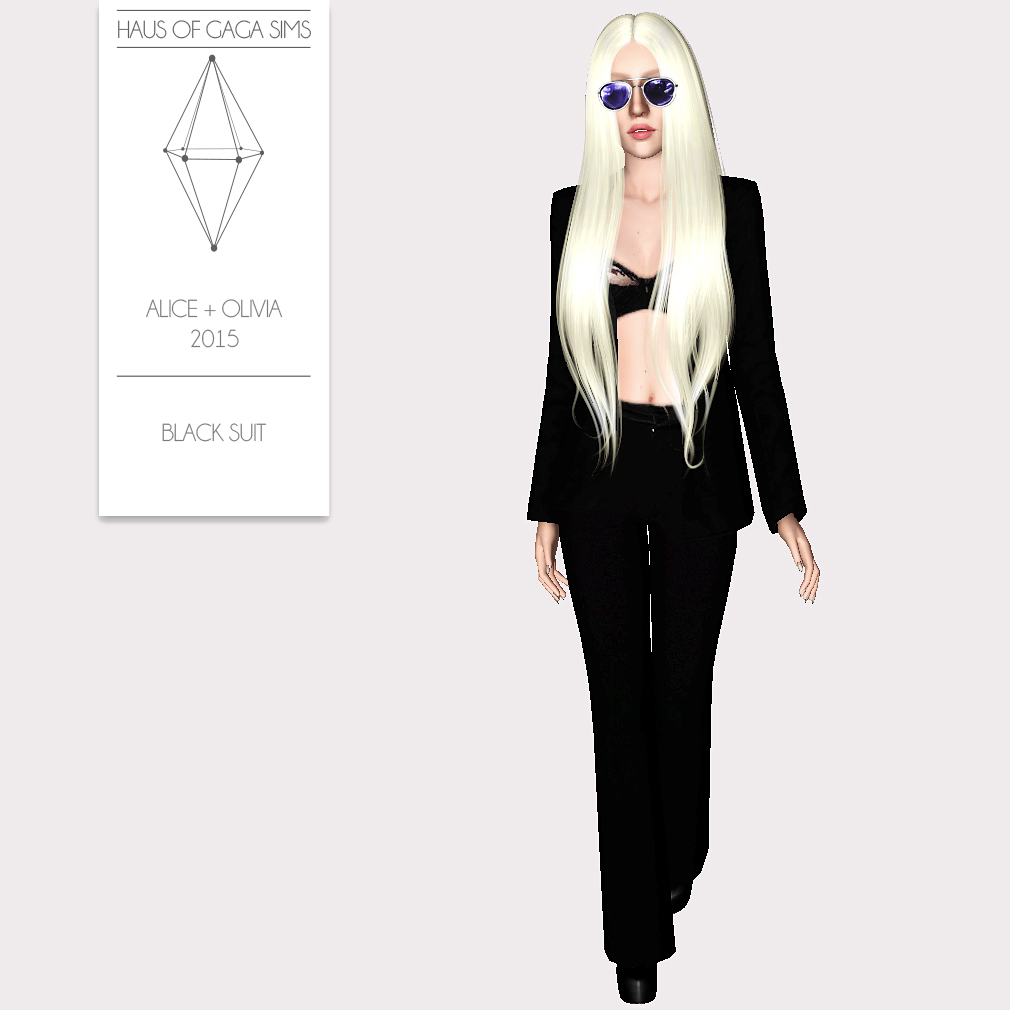 ALICE + OLIVIA 2015 BLACK SUIT
