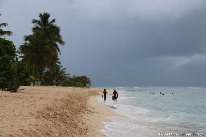 La plage de l'Anse-Bertrand, en Guadeloupe