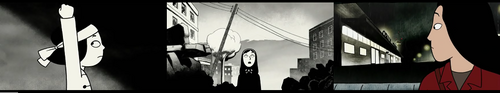 "Tryptique issu du film ""Persepolis""."