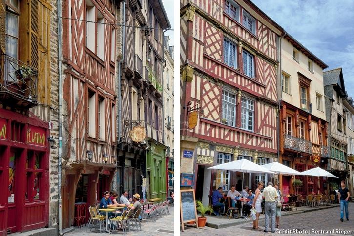 Immeubles à colombages à Rennes