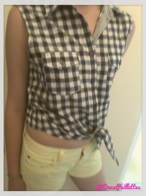 D'une vieille chemise à un chemisier qui sent l'été !