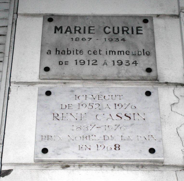 René Cassin et Marie Curie