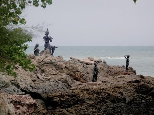 Thaïlande. La plage de Sattahip.