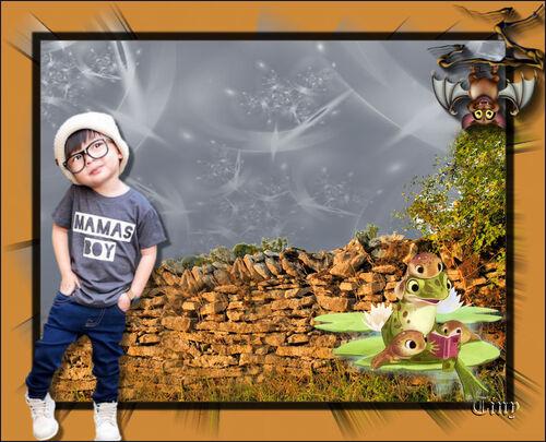 L'enfant aux grenouilles et à la chauve-souris