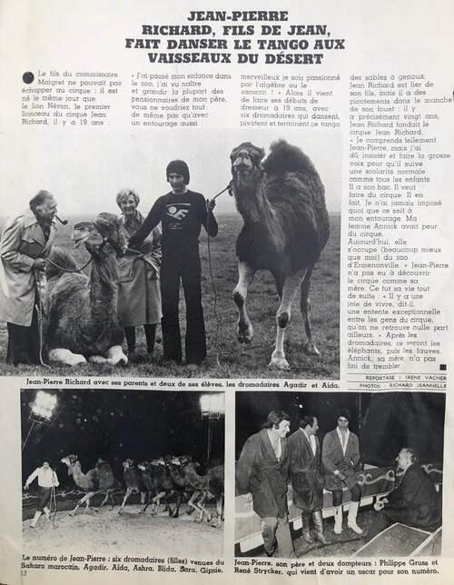Jean et Jean Pierre Richard, deux vies vouées au cirque ! ( archives Jean Arnaud)