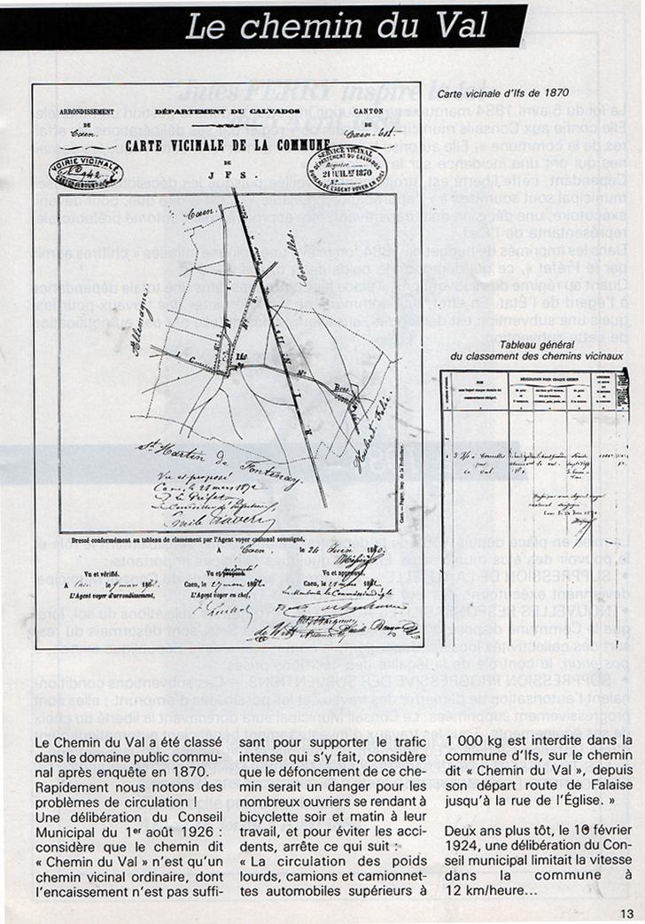 """Le """"Chemin du Val"""" à IFS"""