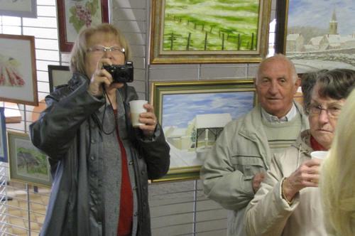 L'inauguration du Salon de Peinture des Amis du Châtillonnais, salle des Bénédictines