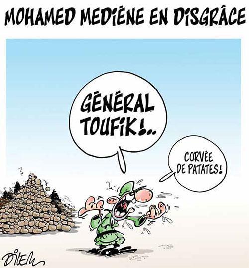 """Dessin du caricaturiste algérien Dilem, publié à la Une du quotidien """"Liberté""""."""