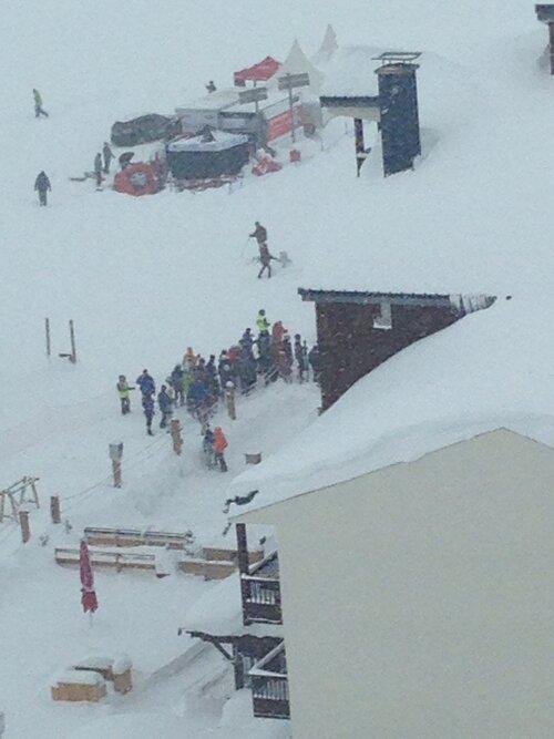 Nouvelle avalanche à Tignes - Savoie