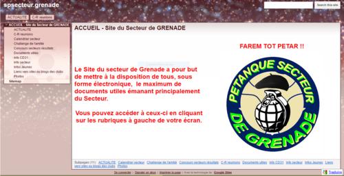Le site du Secteur de Grenade