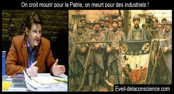 14-18 : « On croit mourir pour la Patrie, on meurt pour des industriels » de  Michel Collon & Denise Vindevogel