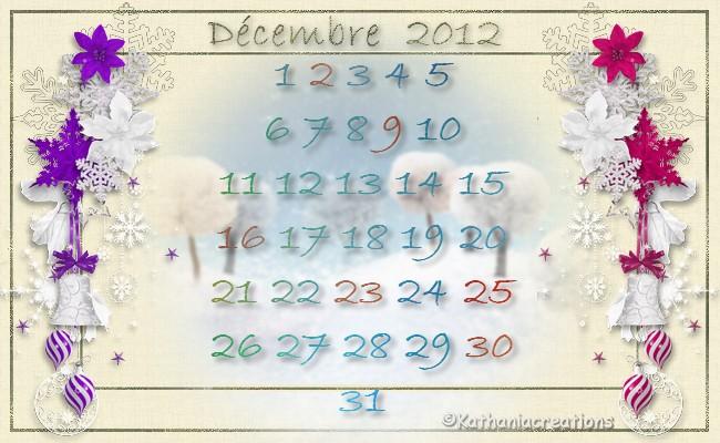 Calendriers de Décembre 2012