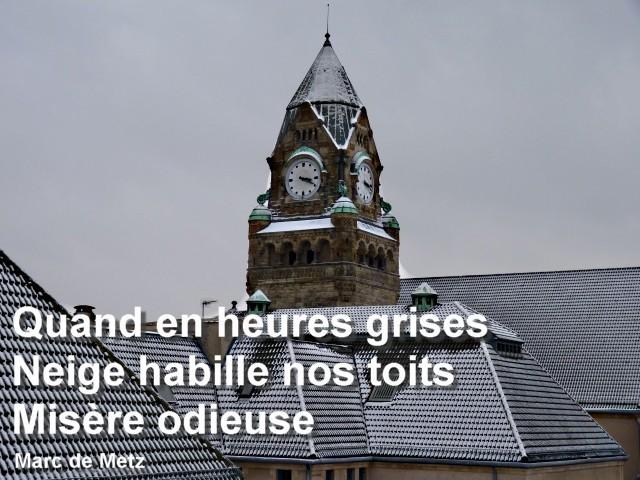 Gare de Metz misère 12 01 2010