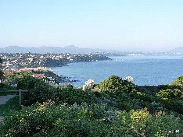 la côte-basque vue des hauteurs de bidart