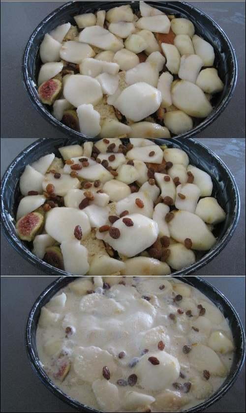 Recette de cuisine :  Pain perdu aux fruits