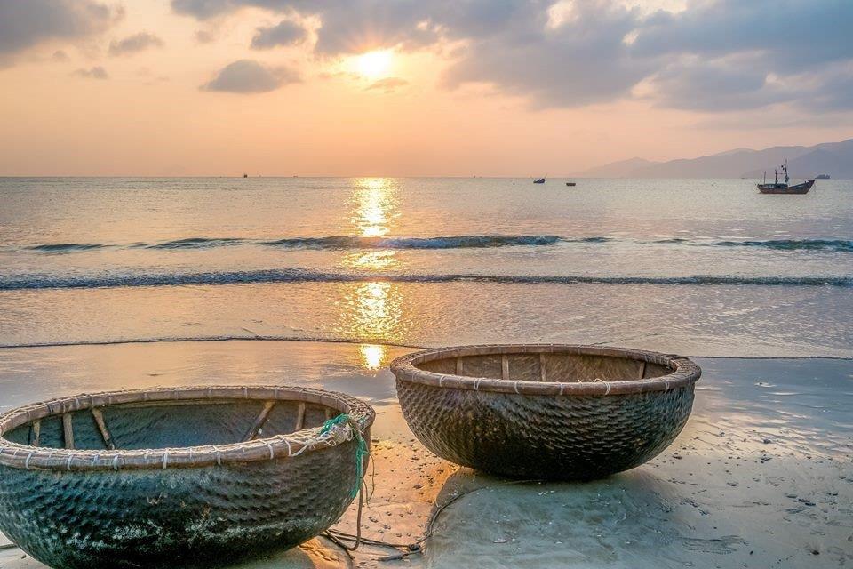 Nha Trang Paysage de mer à jour d'automne