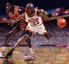 Michael Jordan paintings by A-BB
