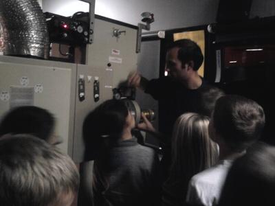 La cabine de projection de la salle Jean Carmet