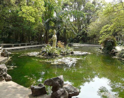 jardin à la japonaise;une princesse;
