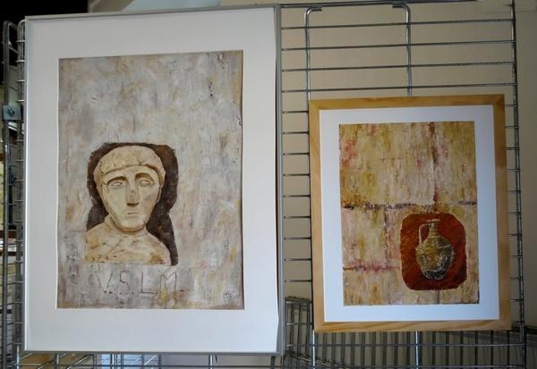 La section peinture des Amis du Châtillonnais a exposé à l'Office du Tourisme