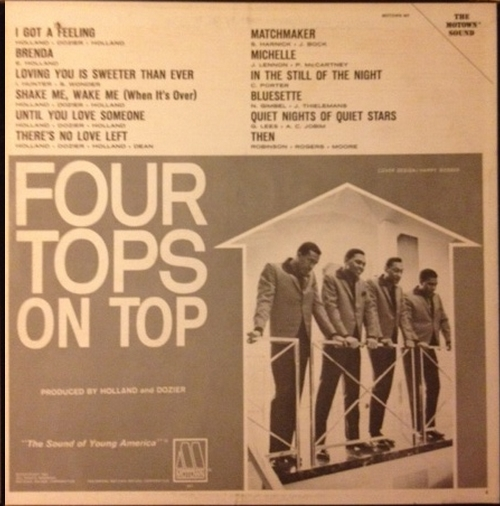 "The Four Tops : Album "" On Top "" Motown Records MS 647 [ US ]"