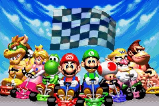 Mario Kart Super circuit s