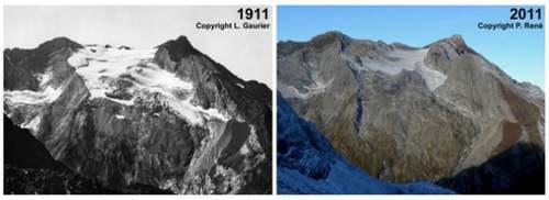Le grand Almanach de la France : La fonte des glaciers
