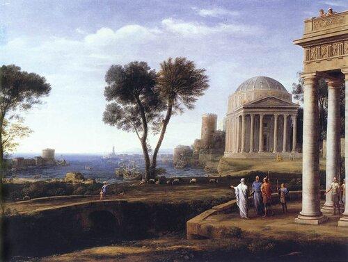"""Peinture de : Claude Gellée dit le """"Lorrain"""""""