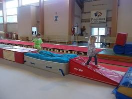 Séance gymnastique à la salle
